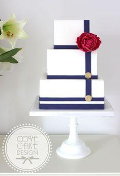 Nautical style wedding cake