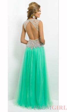 Long Open Back V-Neck Formal Gown
