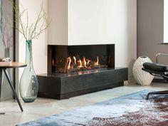 Kalfire ECO-Line - Bespoke Fireplace Designs Natural Gas Fireplace, Home Fireplace, Living Room With Fireplace, Contemporary Gas Fireplace, Minimalist Fireplace, Living Room Tv, Living Room Modern, Living Room Designs, Foyers
