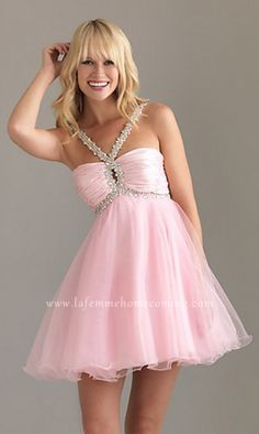 Night Moves 6407 A-Line Skirt Pink Sexy Two Straps Mini Short Homecoming Dresses [Night Moves 6407] - $158.60 : La Femme Homecoming Online Shop Offers Various of Dresses for You