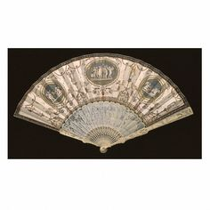 1579 etched & gouache painted vellum with ivory sticks and guards. France, Victoria and Albert Museum . Thank God, for vegetable ivory! Hand Held Fan, Hand Fans, 1500s Fashion, Antique Fans, Victoria And Albert Museum, Beautiful Hands, Metal Working, Sculpture, Antiques
