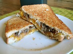 Grilled Cheese with Butternut Squash, Onions, Balsamic Syrup