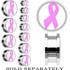 Breast Cancer Awareness Ribbon Plugs. Want these for work : )