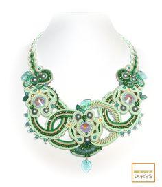 Girocollo LOREDANA by Maria Durys Soutache Necklace, Tassel Earrings, Beaded Embroidery, Boho Jewelry, Jewels, Beads, Fashion, Italia, Beading