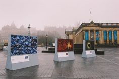 Living Lights outdoor exhibition in Edinburgh