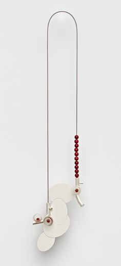 Uncanny Incarnations by Katja Prins.  Katja Prins Necklace: Inter-Act, 2012 Silver, reconstructed stone, glass, steel