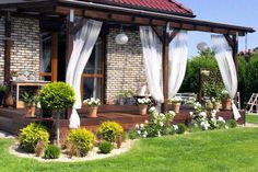 50 Beautiful Garden Landscaping Ideas on This Year Pergola Patio, Outdoor Landscaping, Front Yard Landscaping, Backyard Patio, Outdoor Gardens, Landscaping Ideas, Patio Design, Garden Design, Gazebos