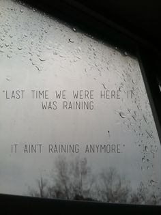 Ryan Adams - Dirty Rain My current favorite singer and song