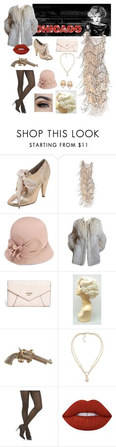 """""""Roxie Hart - Chicago"""" by the-joker-is-mine ❤ liked on Polyvore featuring Mulberry, J. Peterman, Monsoon, Yves Saint Laurent, GUESS, Chanel, Carolee, Elie Tahari and Lime Crime"""