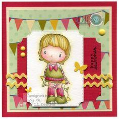Swiss Pixie Banner Heidi, AmyR Stamps Summer Sentiments, C.C. Cutters Make A Card #03 Die, By DIEzyne Pierced Tickets Dies