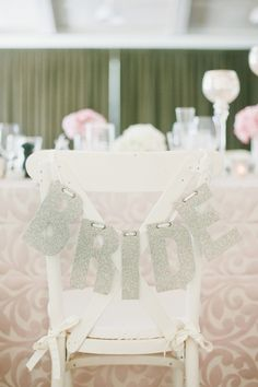 Chair Decor | Bride | Photography: onelove photography