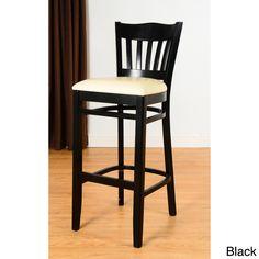 Enhance your home decor with a hybrid barstool. This bar stool boasts an attractive walnut or mahogany finish.
