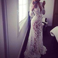 2016 European Style Women Sexy Long White Dress