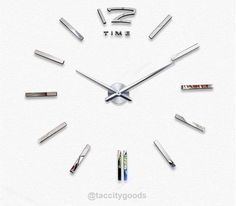 Modern 3D Big Mirror Wall Clock - Home Decor - Tac City Goods Co - 6  Link in the bio