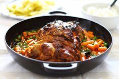 Hoje para jantar ...: Assado de Domingo {Lombo com legumes}
