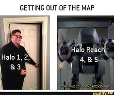 Funny Gaming Memes, Stupid Funny Memes, Funny Games, Funny Stuff, Halo Funny, Halo Series, Halo Game, Military Memes, Funny Cute Cats