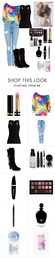 """""""SHE'S A PEACH"""" by brownldx ❤ liked on Polyvore featuring Gucci, Skin, Johnston & Murphy, Bobbi Brown Cosmetics, Max Factor, NYX, EB Florals, PopSockets and The Casery"""