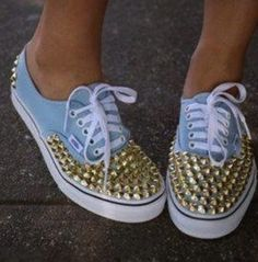 b3636475dc35 Do you have a pair of sneaker that you don t want to wear it anymore  You  can wear it again with a completely new look by having a diy studded  sneakers ...