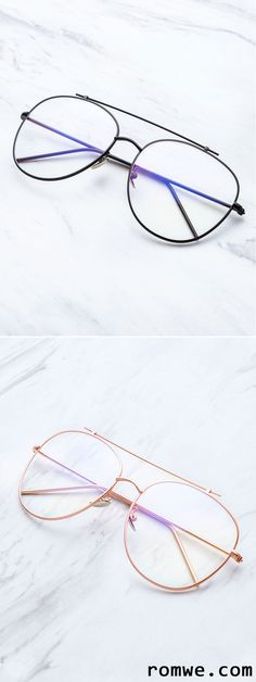 23ac4572dcc Gold Frame Clear Lens Double Bridge Glasses Designer Glasses Frames