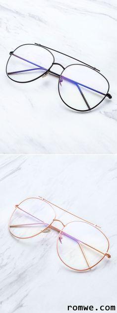 0a165763fcbe0 Gold Frame Clear Lens Double Bridge Glasses Fake Glasses, Cool Glasses,  Designer Glasses Frames