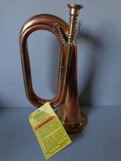 Vintage Exclusive Brassworks - Essex Brass Copper & Brass Civil War - Era Army Bugle with Hang Tag by RocktheJewels on Etsy