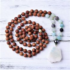 Looking for authentic, one of a kind, handmade malas? Beaded Necklace, Gemstones, Beads, Pendant, Positivity, Traditional, Handmade, Stuff To Buy, Beautiful