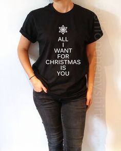 All I want For Christmas Is You - Unisex T-shirt for Women - shpfy