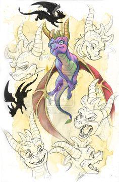 Spyro character, fan art -- Spyro 'Spressions by DaffoDille on deviantART