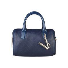 VERSACE JEANS Blue Embossed Bag aa94d03c626