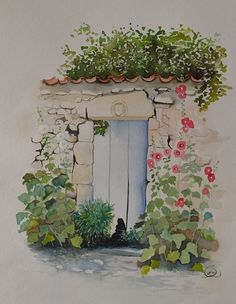 vieille porte de jardin