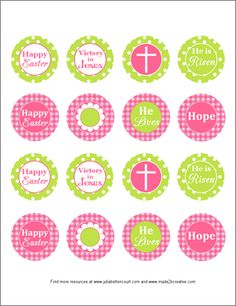 Free Printable Christian Easter Cupcake Toppers