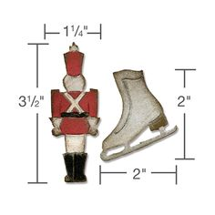 Sizzix - Tim Holtz - Alterations Collection - Movers and Shapers Die - Mini Toy Soldier and Ice Skate at Scrapbook.com