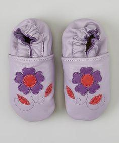 Look what I found on #zulily! Purple & Pink Flower Booties by Helene's Closet #zulilyfinds
