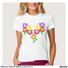 Hibiscus Floral T-Shirt