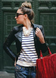Stripes and pearls // stripe