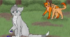 Firestar and Sandstorm. I think Sandstorm knew Cinderpelt liked Firestar too because she always acts kinda weird when there with Cinderplet.