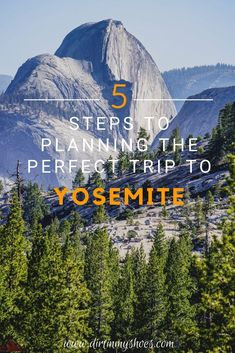 You're about to have so much fun in Yosemite National Park!  Planning an itinerary for your road trip or family vacation can be a challenge though, that's why I'm sharing these 5 Steps to Planning the Perfect Trip to Yosemite!  If you'll be hiking with kids, camping with families, or are on a photography adventure we'll hit your bucket lists hard! I'll be your travel guide so you'll know what things to do, and which hikes will take you to the most beautiful places!