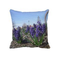 Hyacinth Pillow  zazzle.com/Rinchen365flower*