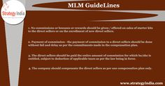 Click to read more mlm guidelines for direct selling compensation plans. http://www.strategyindia.com/mlm-guidelines-4.html  #mlmguidelines #directsellingcompensationplans