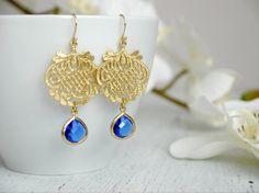 Mint Bridal Earrings Mint Chandelier Earrings Gold Chandelier ...