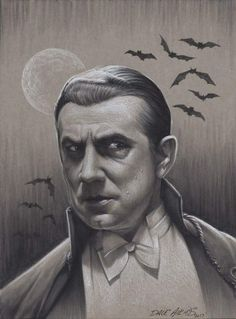 "Universal Classic Monsters Art:Bela Lugosi ""Dracula"" 1931 by Dave Aikins Monster Horror Movies, Classic Monster Movies, Classic Monsters, Horror Posters, Horror Films, Horror Art, Monster Squad, Monster Art, Lugosi Dracula"