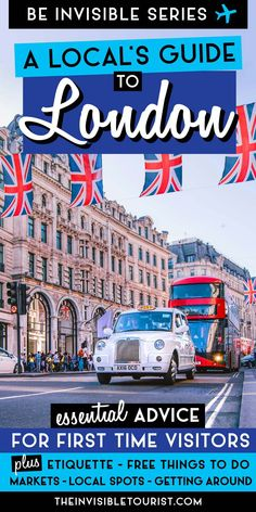 Traveling to London for the first time? This local& guide to London has you covered. Top advice for things to do in London to experience the city like a local, written from an American perspective! London Tips, London Food, London Eye, Europe, Lokal, Journey, Things To Do In London, By Train, Like A Local