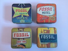 Travel Fossil Tins