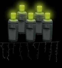 Shop 5MM Icicle LED Halloween  Lights in Frankenstein Green