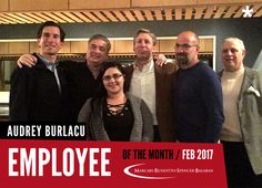 Congratulations to our February 2017 Employee of the Month, Audrey Burlacu! Thank you for your hard work and dedication to Marcari, Russotto, Spencer & Balaban Law Firm!