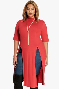 Aaron Double Slit Maxi Top