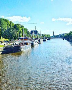 Aurajoki river, city of Turku