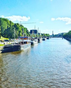 Aurajoki river, city of Turku