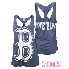 Boston Red Sox Victoria's Secret PINK® Triblend Raw Edge Tank  $24.50 now $19.97