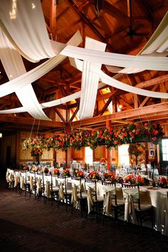 Love the way they drape the sheeting to create a rustic look